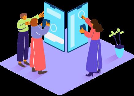 צוות בונה אפליקציה