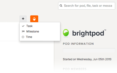 Quickly add time in Brightpod