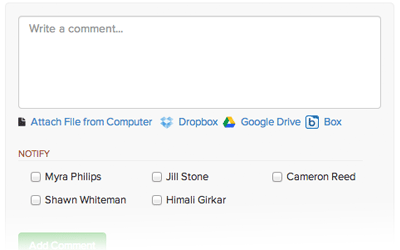 Comment on Tasks in Brightpod