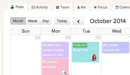 Social media and blog calendar