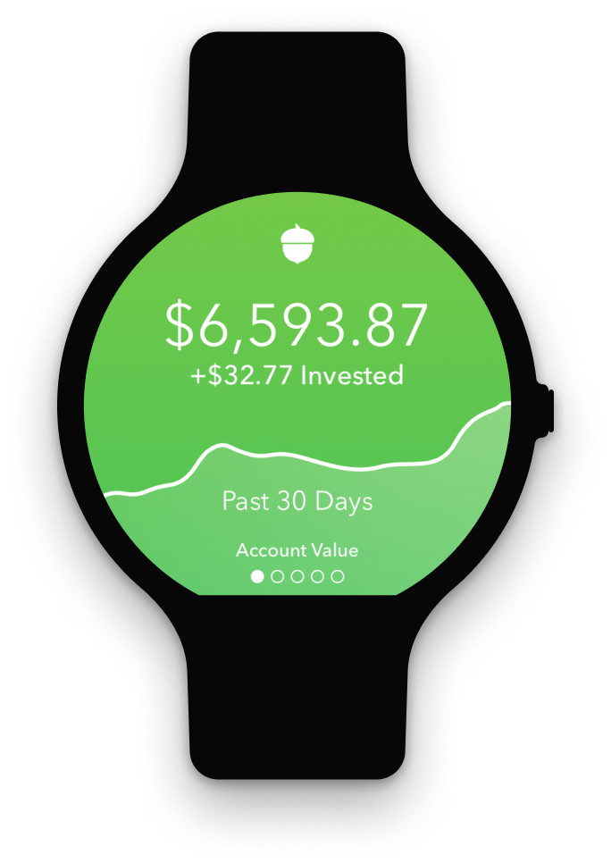 Acorns Watch App UI for Android
