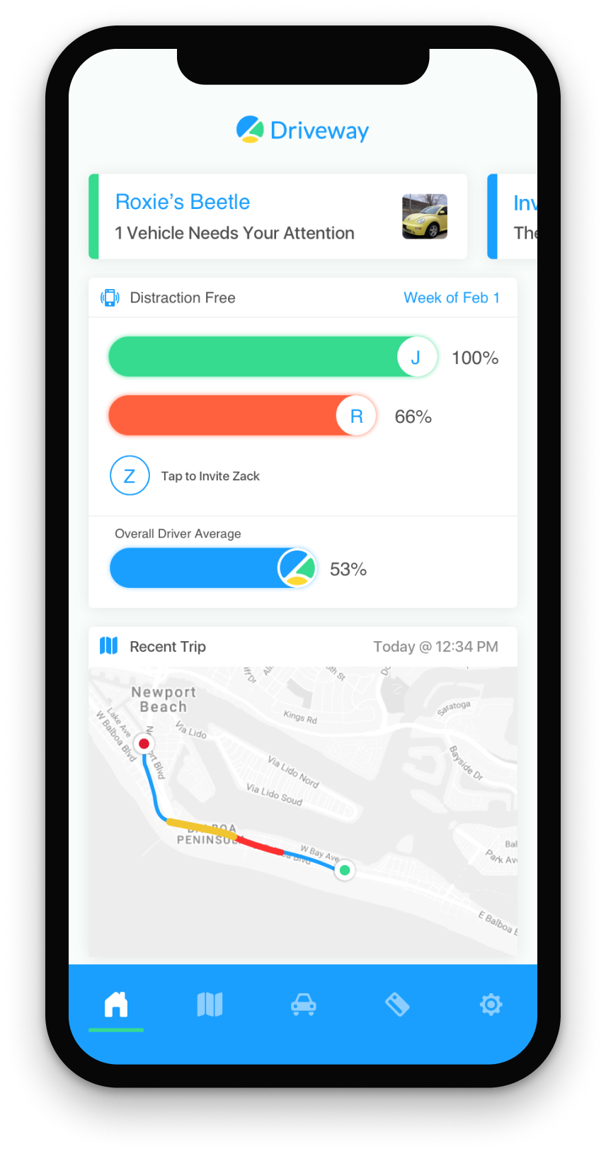 Driveway App UI for iOS