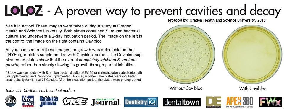 Anti cavity lollipops petri dish study