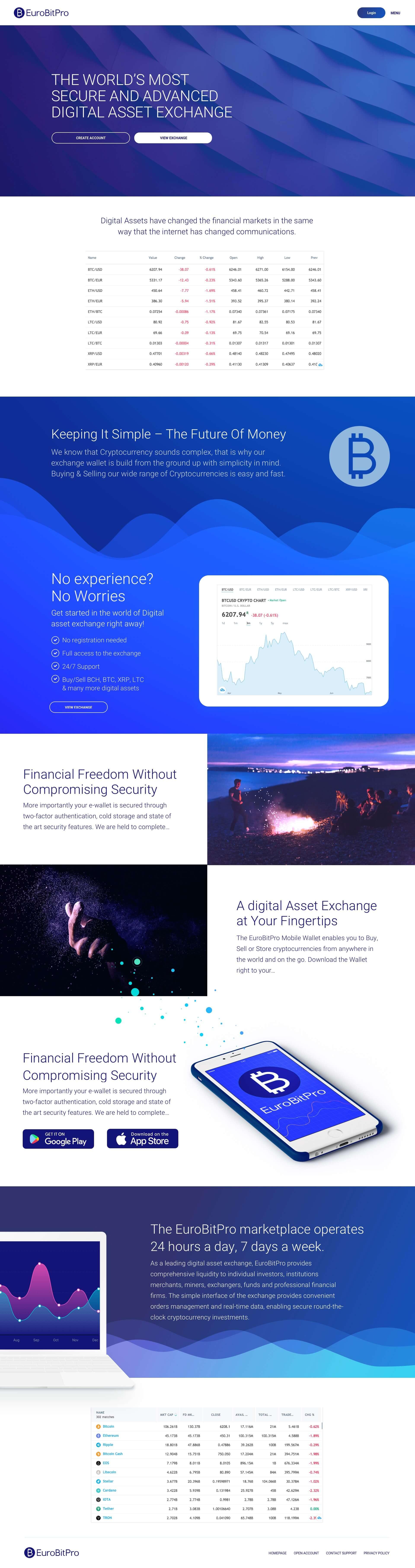 Blockchain Website Design