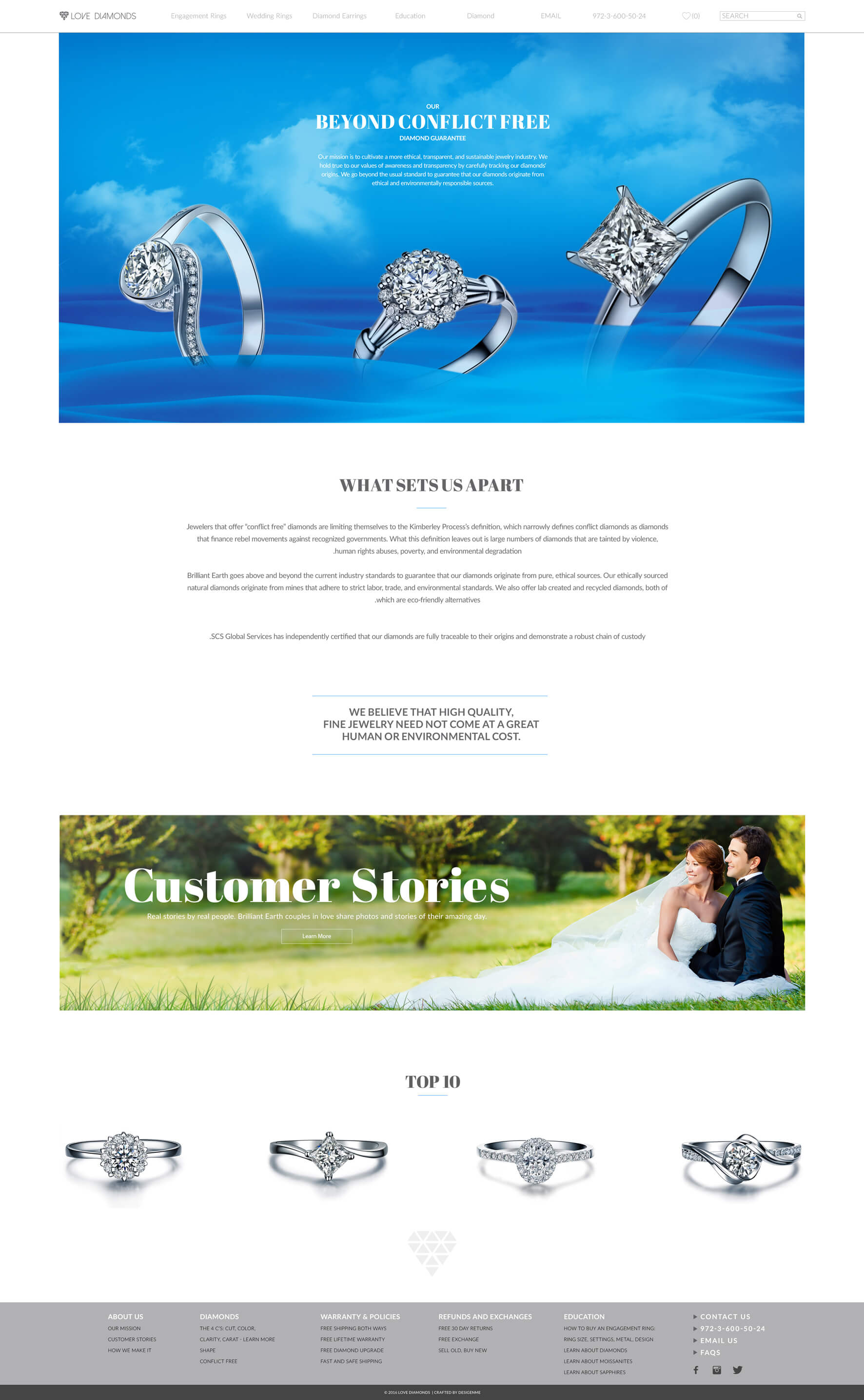 Love Diamonds Website Design