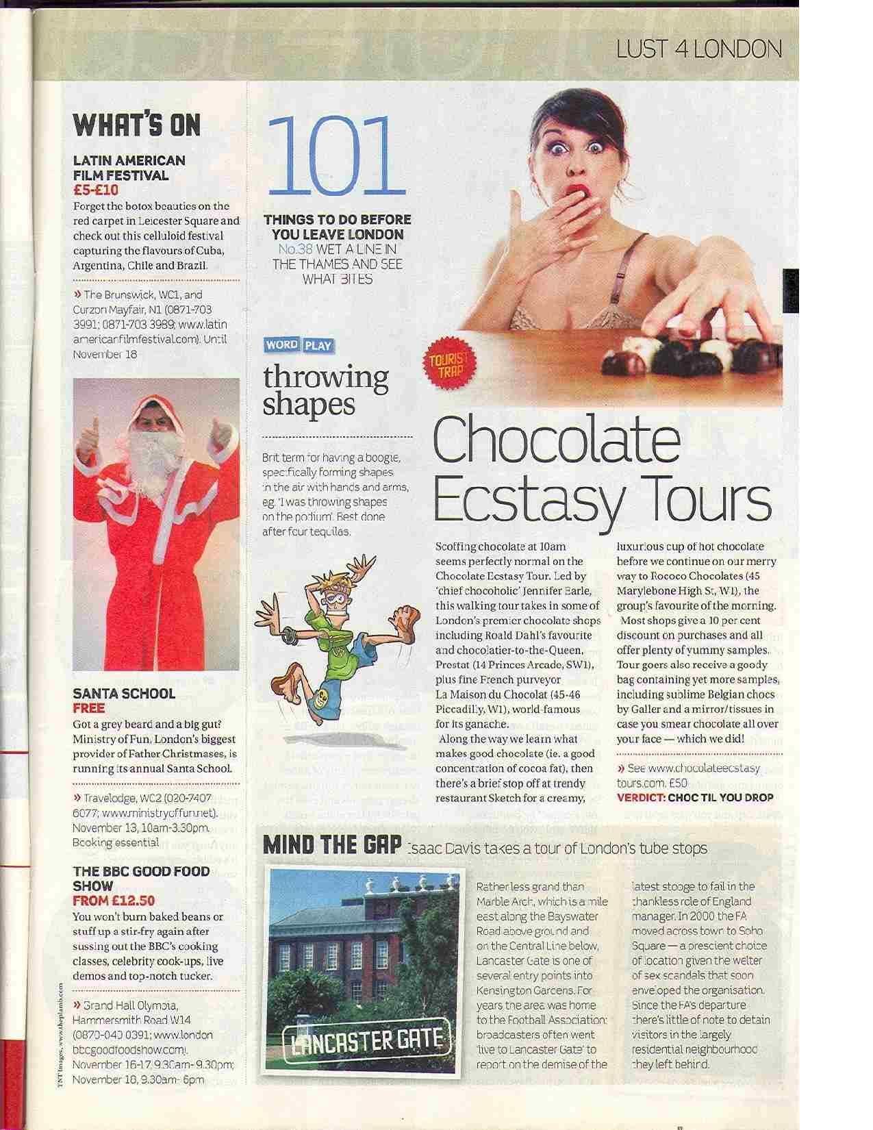 Chocolate Ecstasy Tours in the News