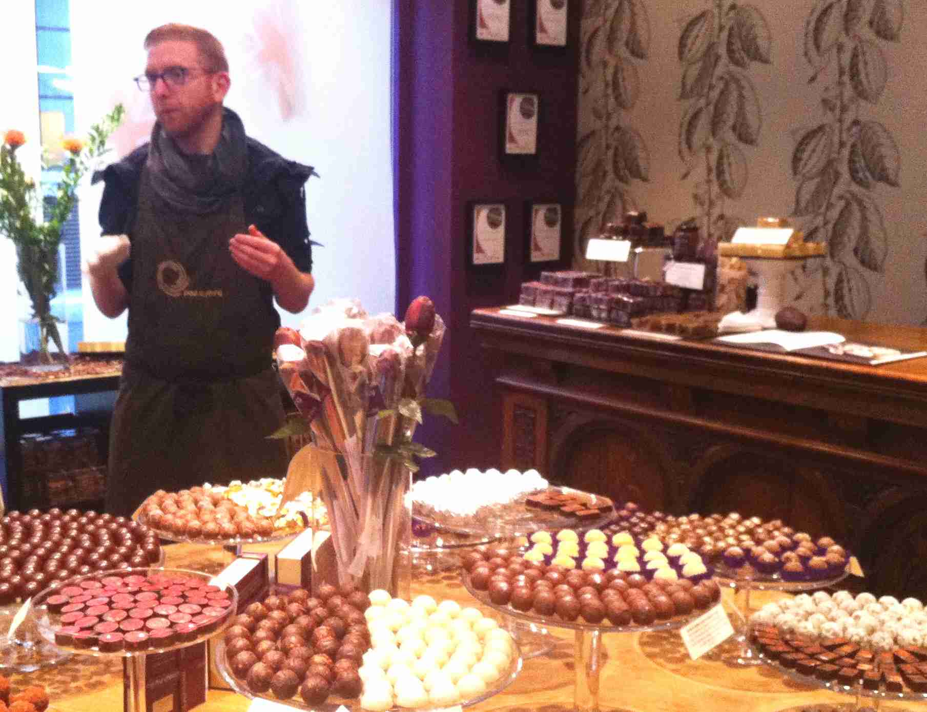 Chocolate Ecstasy Tours Evening Tour Paul A Young Soho shop