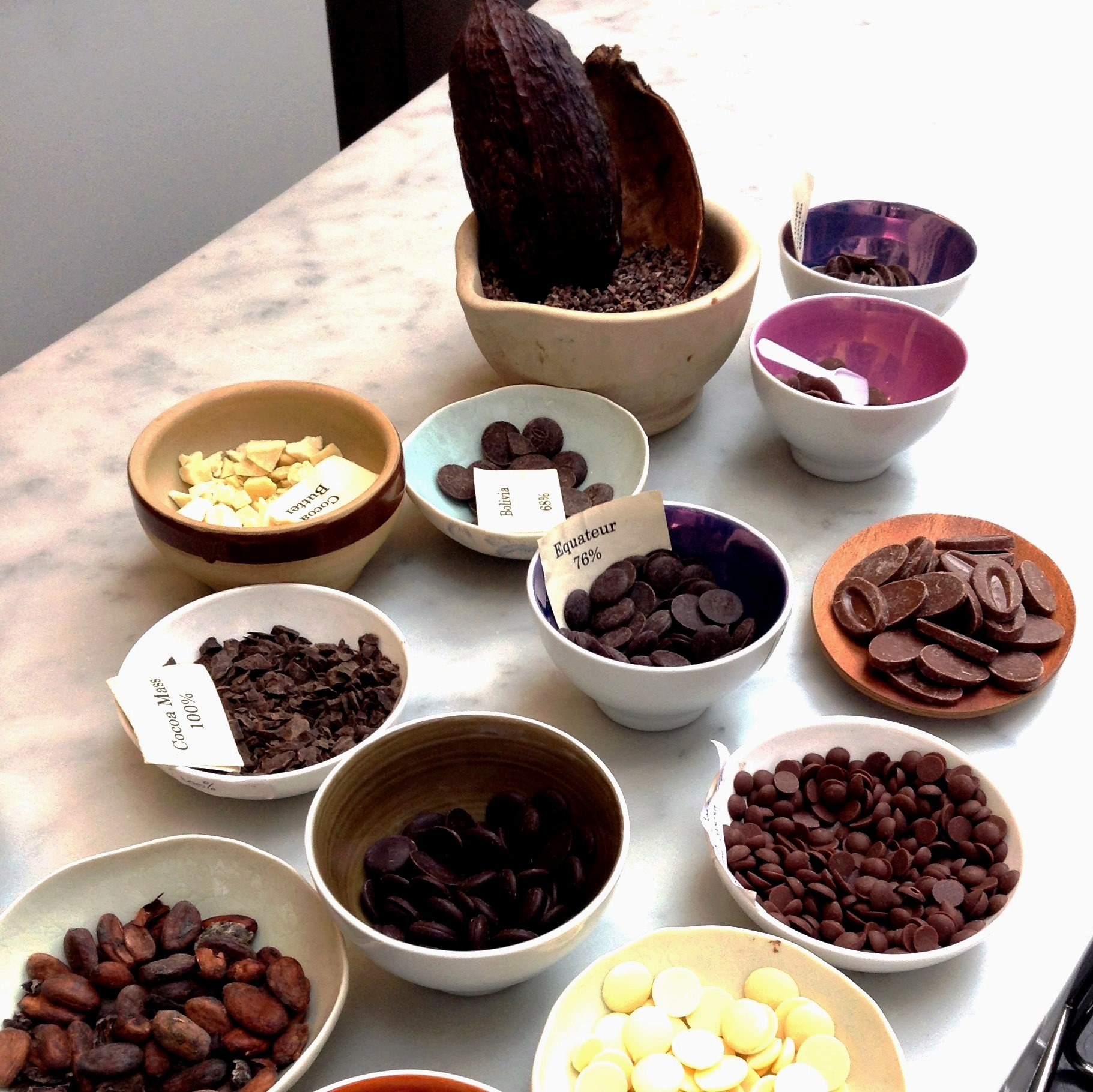 Chocolate tasting on the Notting Hill Chocolate and Coffee Tour