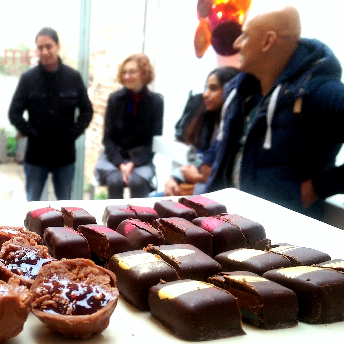Chocolatier truffles on the Notting Hill Chocolate and Coffee Tour
