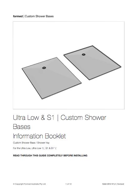 S1 Custom Shower Base - Installation Guide