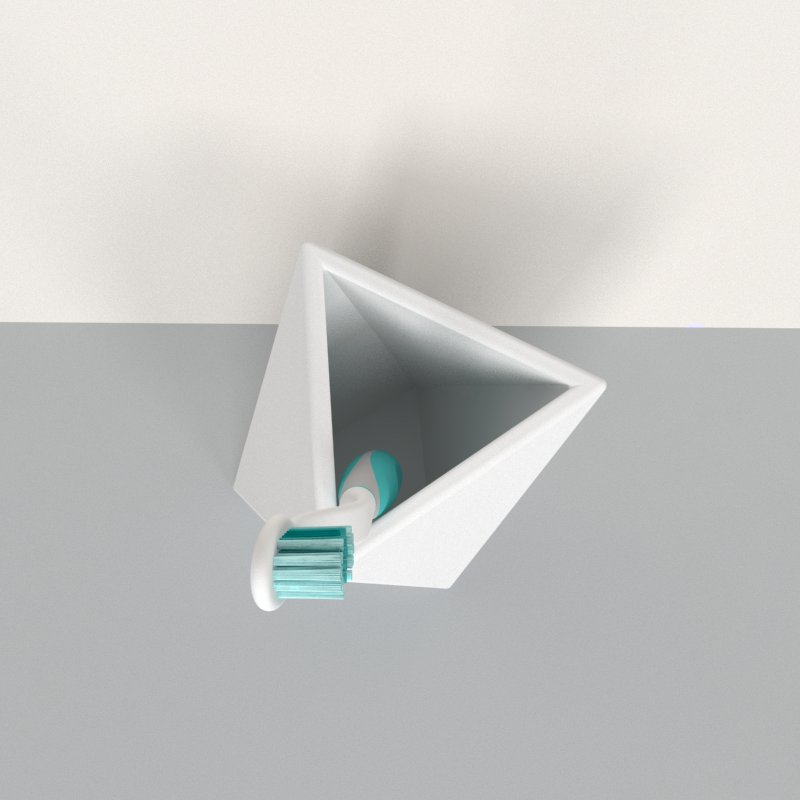 Geometric Tooth Brush Holder