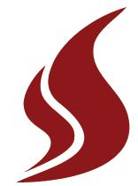 "Decorative Sandstone ""S"" flame logo."