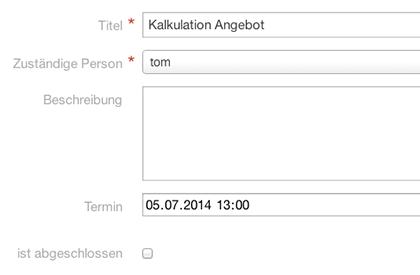 Task und Terminplanung