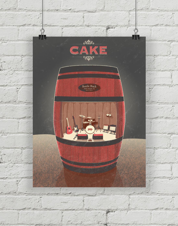 Cake at the BottleRock Poster detail