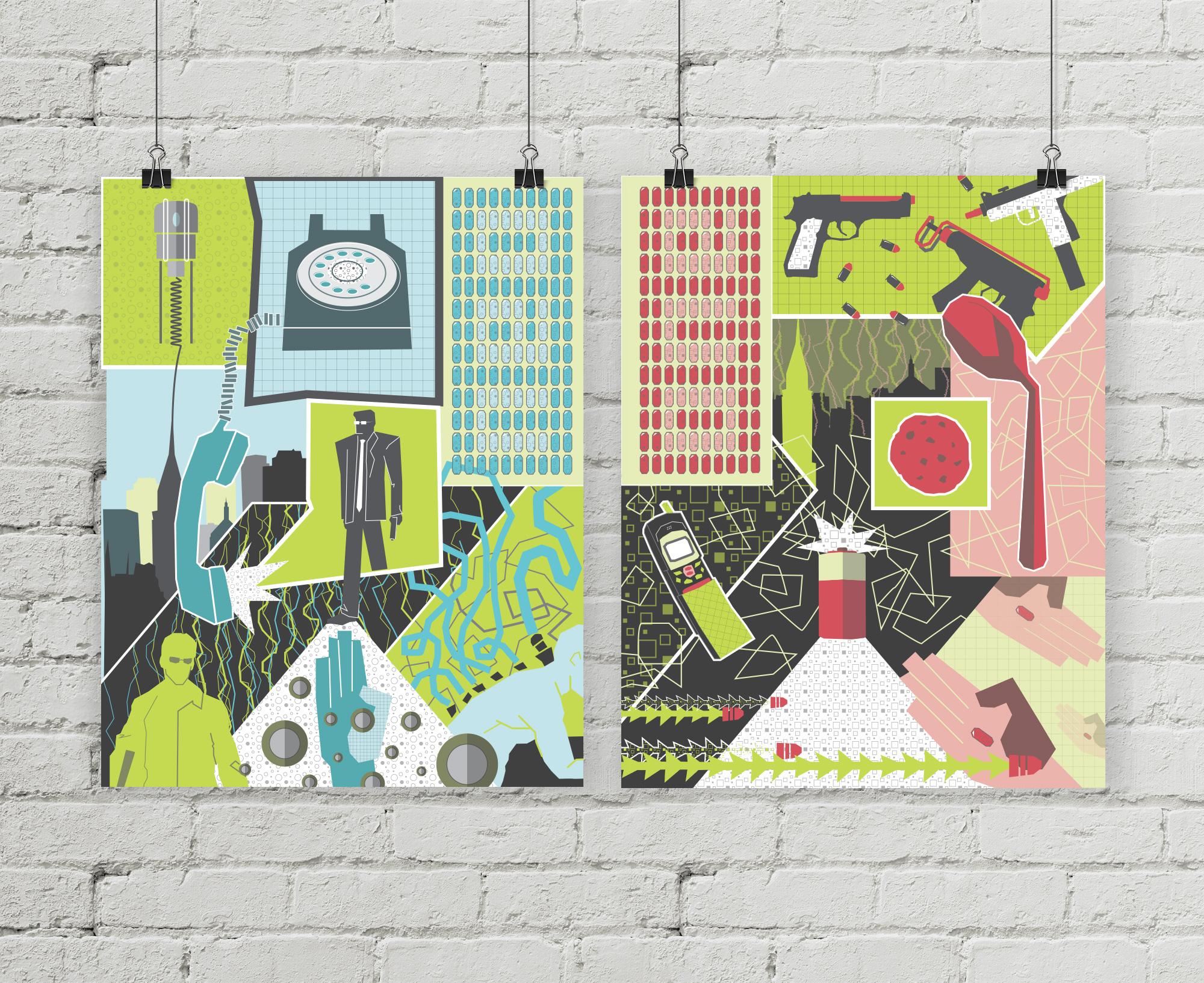 Matrix poster series for bottleneck gallery