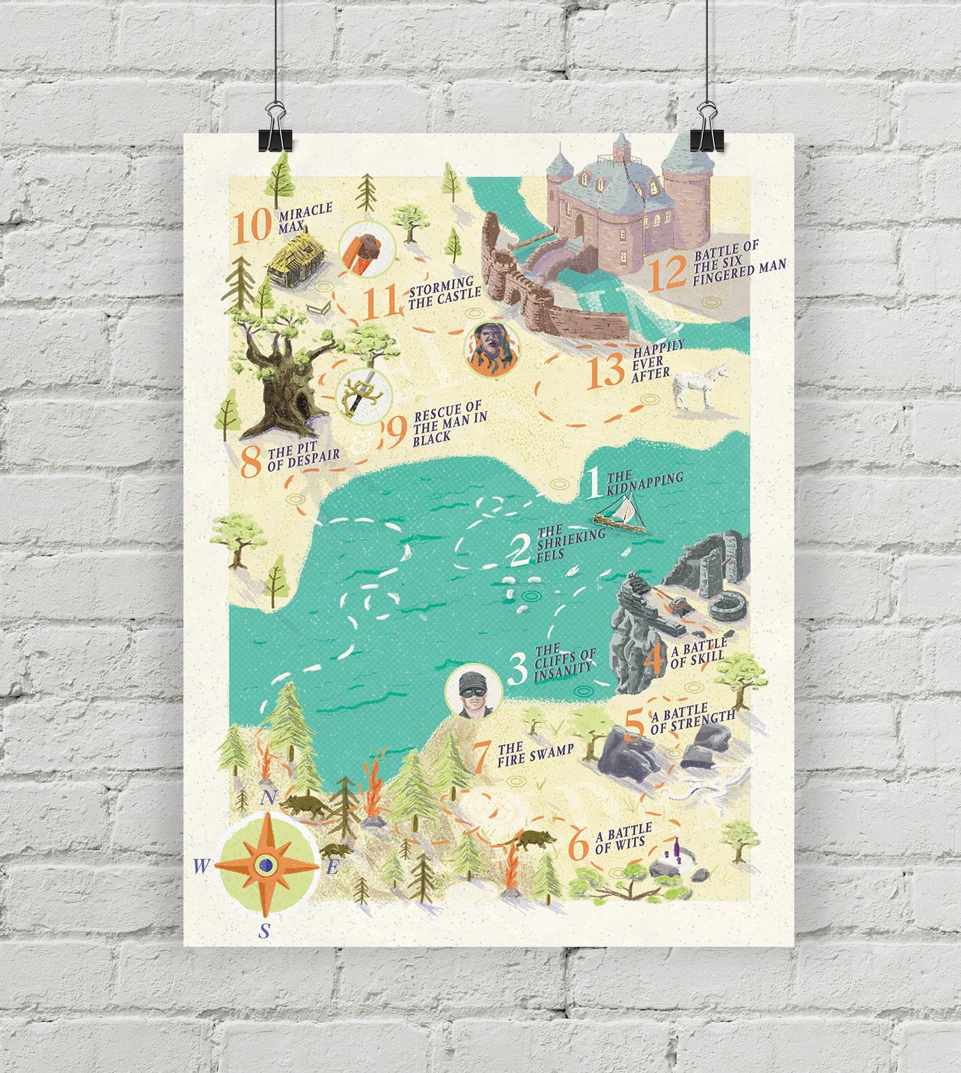 Illustrated companion guide for The Princess Bride
