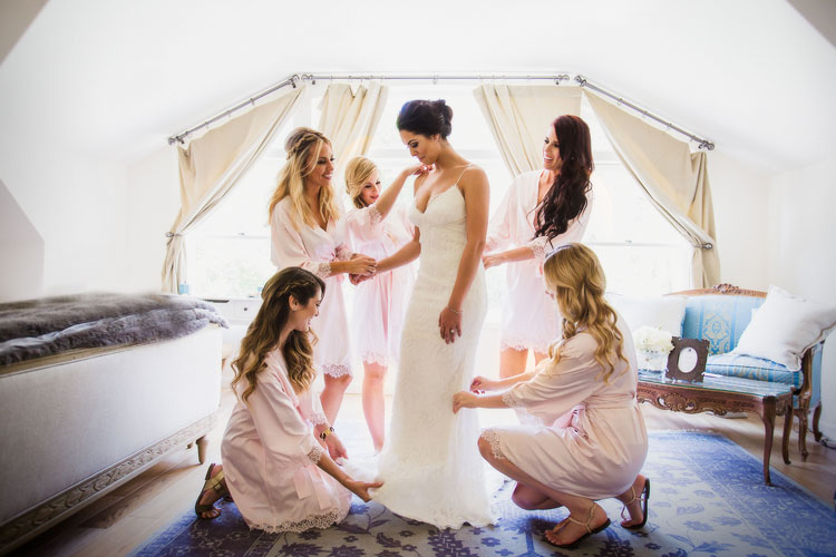 Newhall Mansion Bridesmaid Wedding Photos