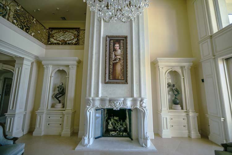 Mansion Fireplace with Painting