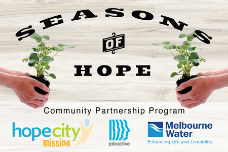 Community Partnership Program at Hope City Mission - Partners include Melbourne Water, Jobactive