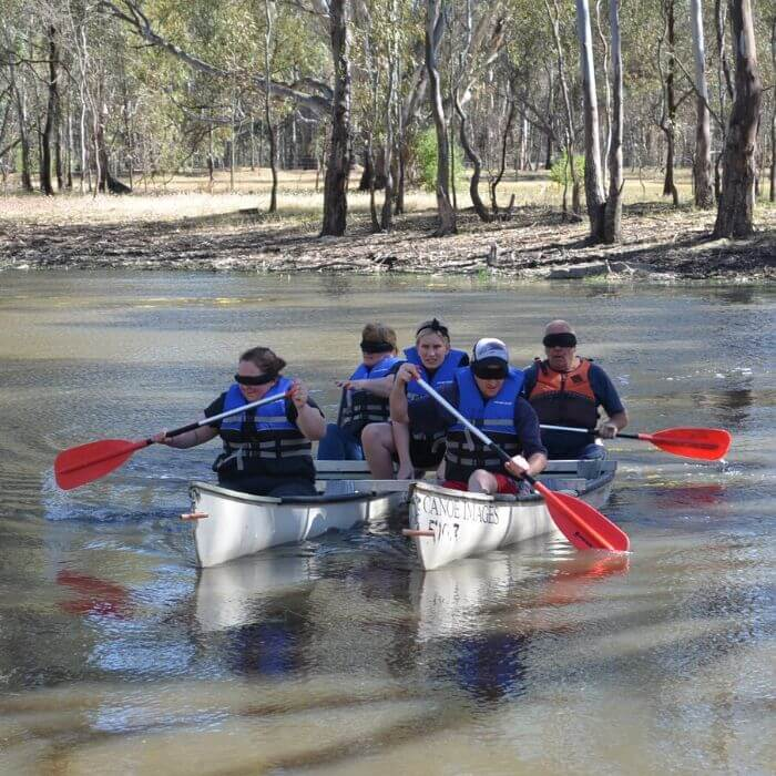 Adventure Camp and Blindfold Canoeing at Murray Life Adventures