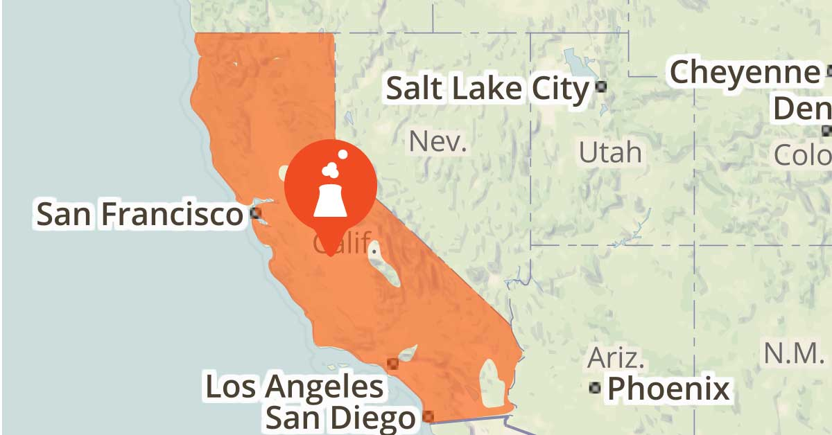 Map of California  showing how an OhmHour works