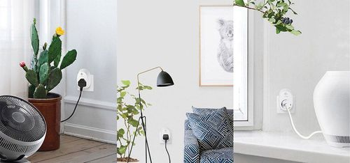 Smart plug in a smart home plugged in at different places