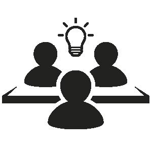 ícone de pessoas colaborando