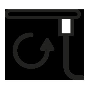 ícone de tampo giratório