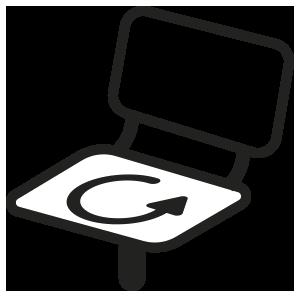 ícone de assento giratório