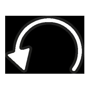 ícone de seta girando