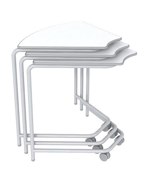 três mesas link empilhadas