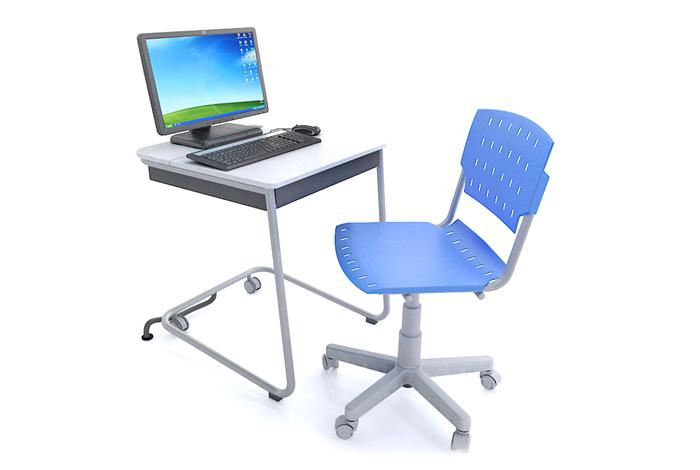 mesa perzonaliada para computador e cadeira sg giratória