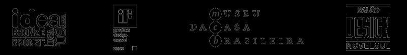 logotipos do prêmio idea, IF, museu da casa brasileira e movelsul