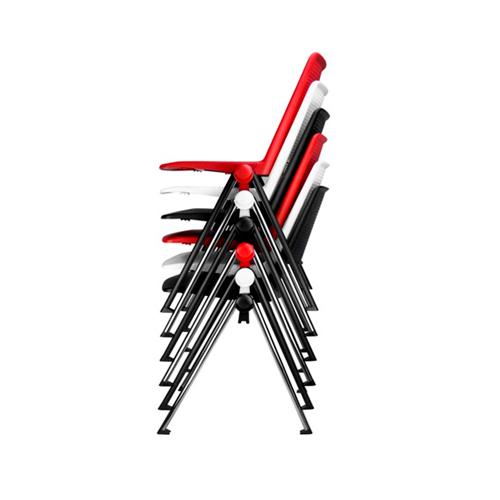 seis cadeiras fv fixas empilhadas