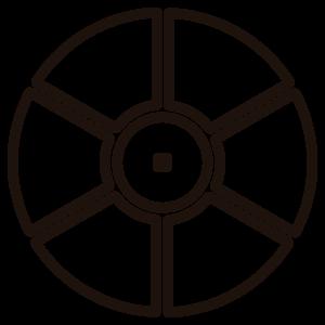 ícone de grupo de seis mesas link