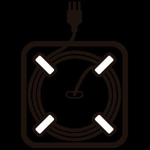 ícone de compartimento para cabos