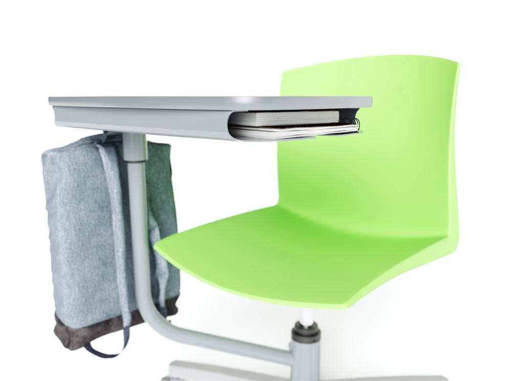 detalhe do compartimento integrado ao tampo na flex pro