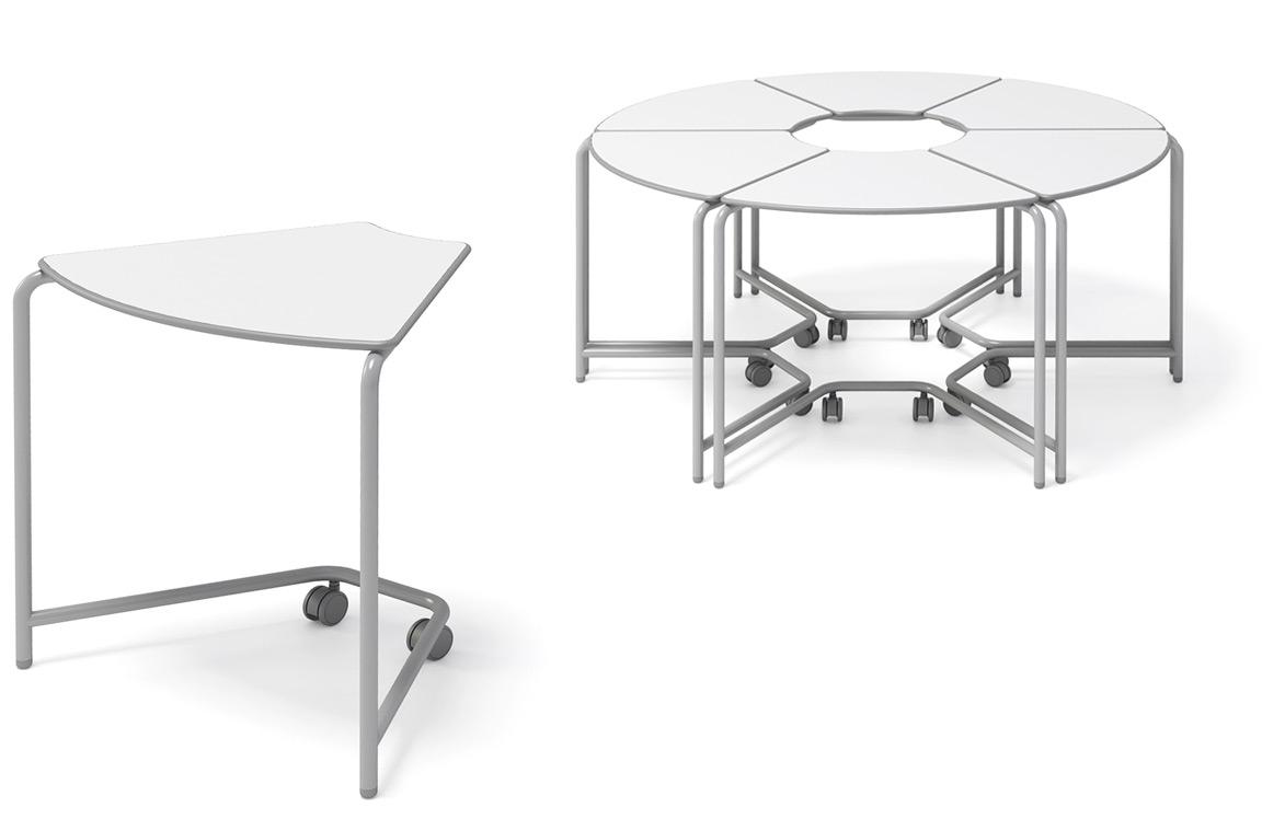 botão para iniciar vídeo com mesa link em destaque e grupo de seis mesas ao fundo