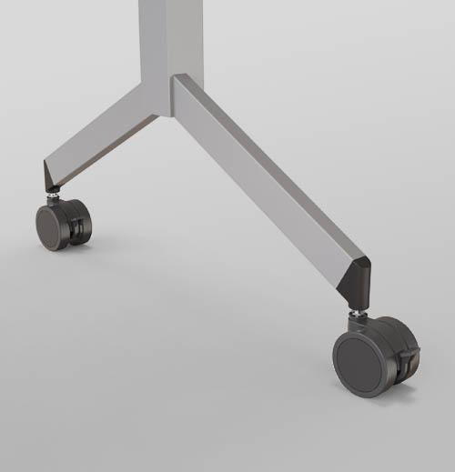 detalhe do encaixe das mesas para melhorar armazenamento