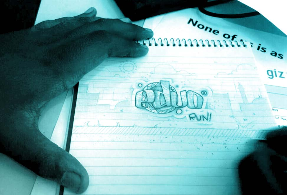 A sketch of one of the games' logo