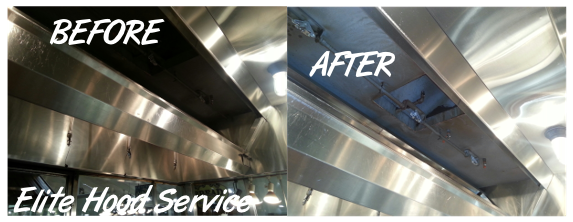 Hood System before & after