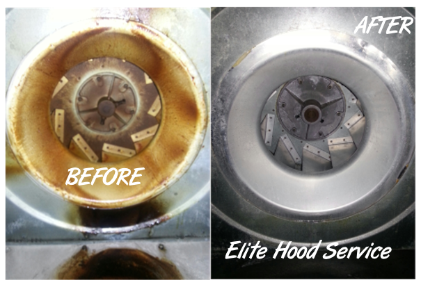 Exhaust fan cleaning before & after
