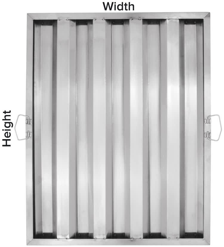 hood filters measure