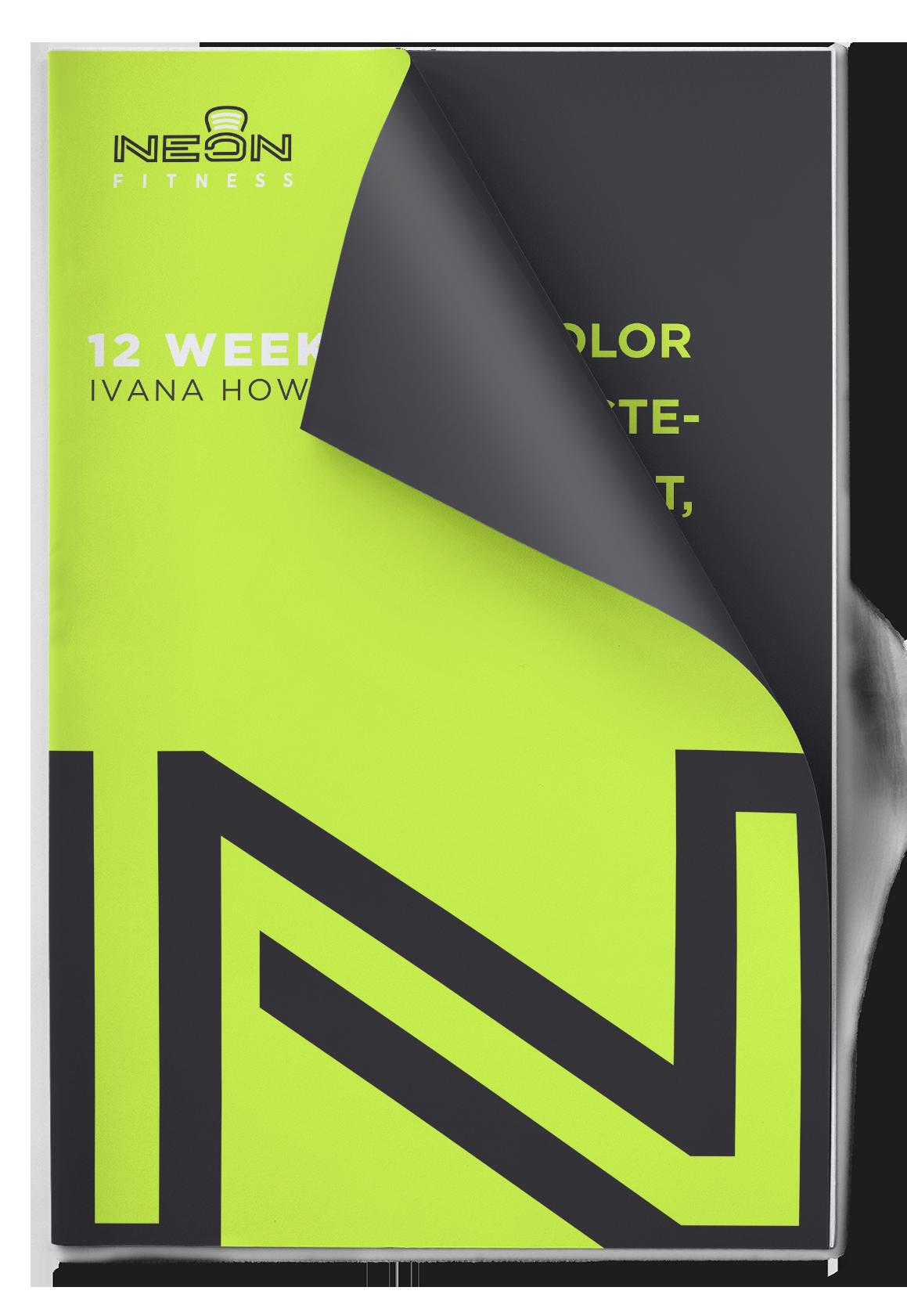 Neon Fitness Training Program Layout