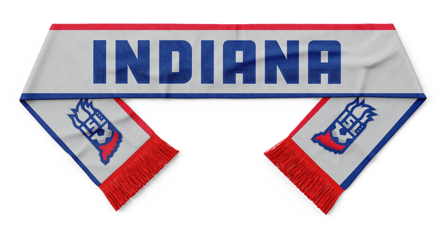 Indiana Soccer League Team Scarf Mockup