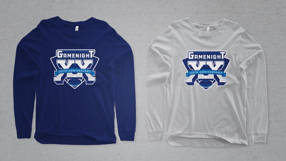 Northeast Indiana Gamenight 20th Anniversary Logo Shirts