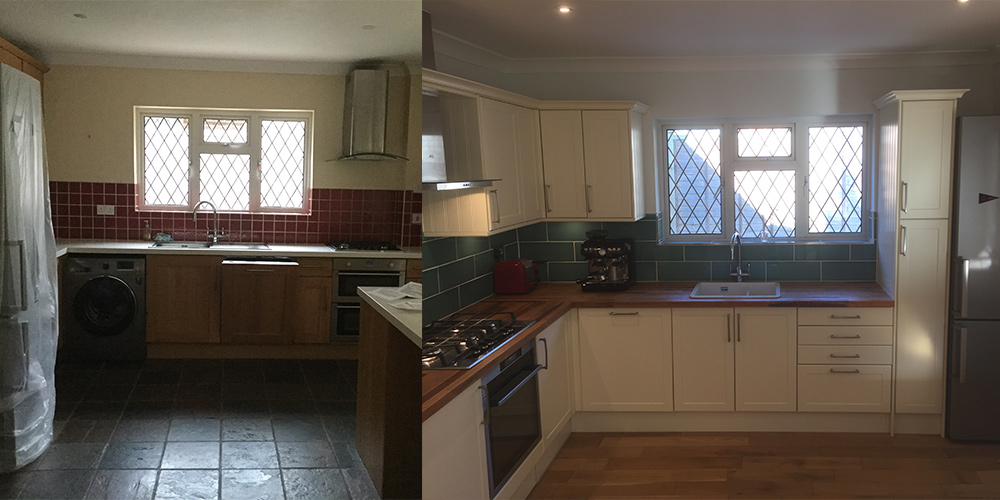 Kitchen refurb - home improvements in eastbourne