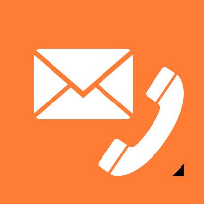 orange Contact Us icon