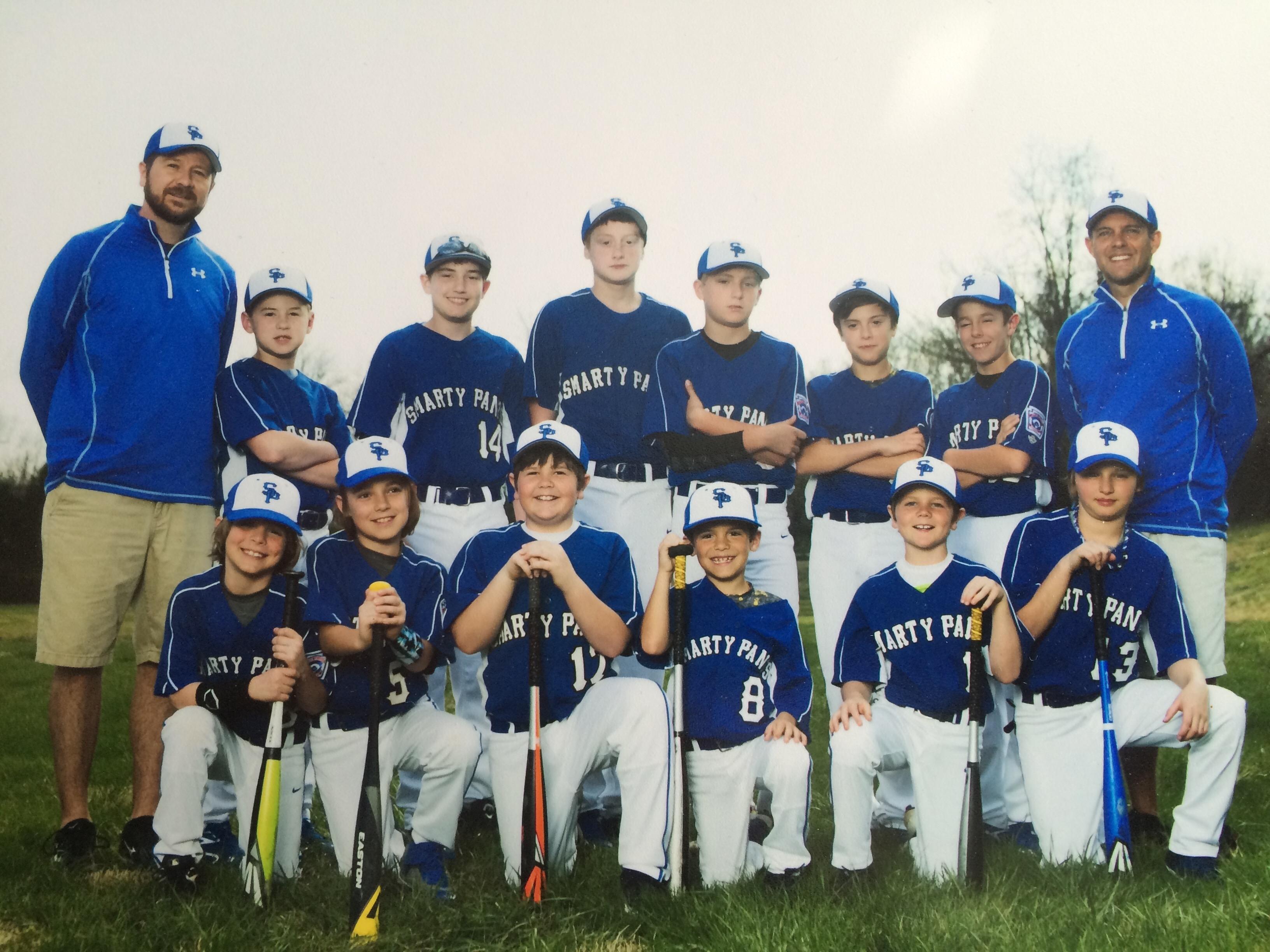 Smarty Pants 2015 Little League team picture