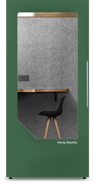 office phone booth green